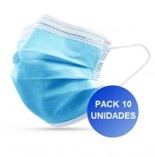Pack 10x Máscaras Certificadas CE FDA 3 camadas